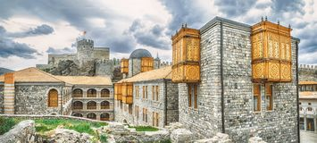 Hotel Rabat in the fortress. Rabath fortres in Akhaltsikhe, Georgia. Lomisa Castle or Rabati Castle complex.  Royalty Free Stock Images
