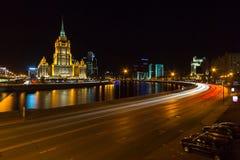 Hotel Radisson Mosca reale alla notte Fotografie Stock