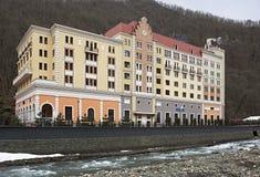 Hotel Radisson Rosa Khutor Stock Image