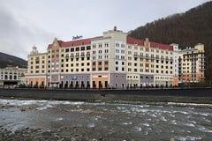 Hotel Radisson Rosa Khutor Stock Photo