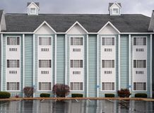 Hotel in the rain Stock Photography