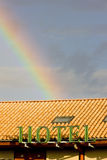 Hotel with rainbow Royalty Free Stock Photos