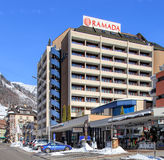 Hotel Ramada-Gebäude in Engelberg, die Schweiz Lizenzfreies Stockfoto