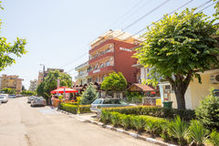 Hotel in the Ravda, Bulgaria royalty free stock photography
