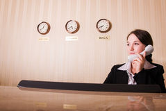 Hotel reception Stock Photo
