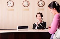 Hotel reception Royalty Free Stock Photos