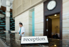 Hotel reception Royalty Free Stock Image