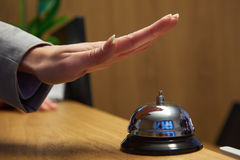 Hotel reception bell Stock Photography
