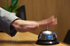 Hotel reception bell Royalty Free Stock Photo