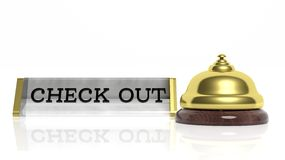 Hotel reception bell and Check out Royalty Free Stock Photos