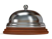 Hotel reception bell. 3d render. Royalty Free Stock Images