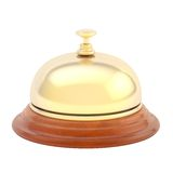Hotel reception bell isolated Royalty Free Stock Photo