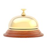 Hotel reception bell isolated Royalty Free Stock Photos