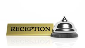 Hotel reception bell and Reception card Royalty Free Stock Images