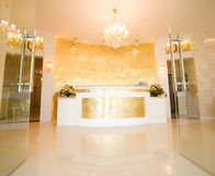 Hotel reception desk stock photos