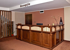 Hotel reception desk Royalty Free Stock Photography