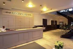Hotel reception desk royalty free stock image