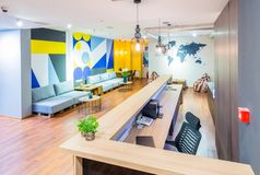 The hotel reception of hostel dormitory. Hotel reception of hostel dormitory royalty free stock photos