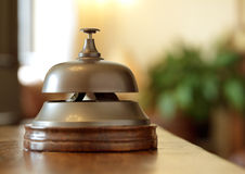 Hotel reception service bell Stock Image