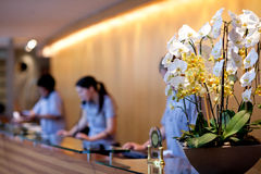 Hotel reception. View of a modern hotel reception Stock Images