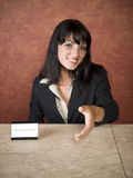Hotel - receptionist Royalty Free Stock Photos