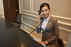 Hotel receptionist Stock Images