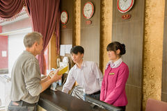 Hotel receptionist Royalty Free Stock Photography