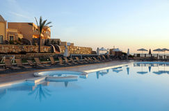 Hotel Recreation Area on Crete Island Stock Photos