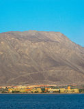 The hotel is on the Red Sea coast in the early morning, Royalty Free Stock Image
