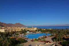 Hotel on the Red Sea shore Royalty Free Stock Photos