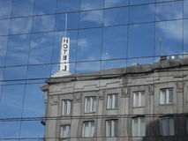 Hotel reflection. Reflection of a hotel facade in Tallinn, Estonia Royalty Free Stock Images