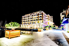 Hotel-Regentschaft in Marina Porto Montenegro in Tivat, Montenegro vorbei lizenzfreies stockbild
