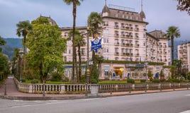 Hotel Regina Palace, Stresa, Italia Imagen de archivo libre de regalías