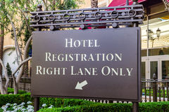 Hotel Registration. Directions to guests for Hotel registration Royalty Free Stock Images