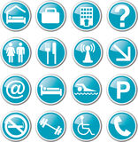 hotel related icon set Royalty Free Stock Image