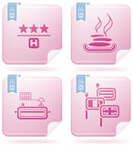 Hotel Related Icons Stock Image