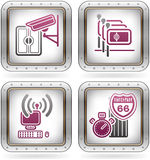Hotel Related Icons Stock Photos