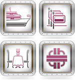 Hotel Related Icons Royalty Free Stock Image