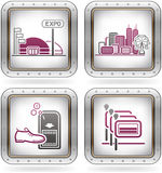 Hotel Related Icons Royalty Free Stock Photography