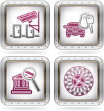 Hotel Related Icons vector illustration