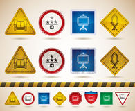 Hotel Related Icons. Hotel (hospitality industry) icons to illustrate miscellaneous camping features from left to right Royalty Free Stock Images