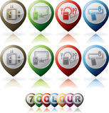Hotel Related Icons Royalty Free Stock Photos