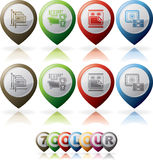 Hotel Related Icons Stock Photography
