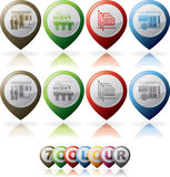 Hotel Related Icons Stock Photo