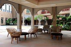 Hotel relaxation corner Stock Photo