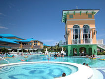 Hotel resort. With pool bar Royalty Free Stock Images