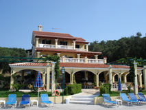 Hotel at a resort. View of a hotel resort Stock Photography