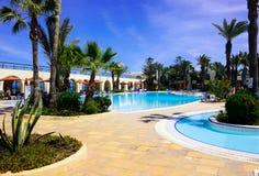Hotel Resort Exterior Pool, Holidays Scenic Destinations Royalty Free Stock Photo