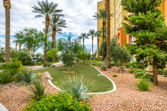 Hotel Resort Landscaping Royalty Free Stock Photos