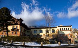 Hotel resort in mountains Stock Photography